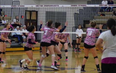 Chelsea and Dexter players battle in Volley for the Cure match