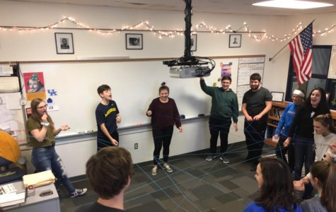 Freshmen participate in Why You Matter's project, focusing on connections between students