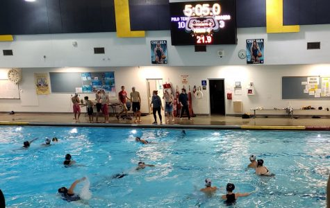 Girls Water Polo Easily Take on Guys Distance Team in an After-Season Game