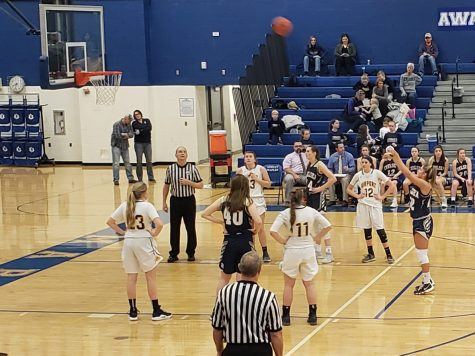 This photo was taken at the regional championship girls basketball game March 13th, 2019.
