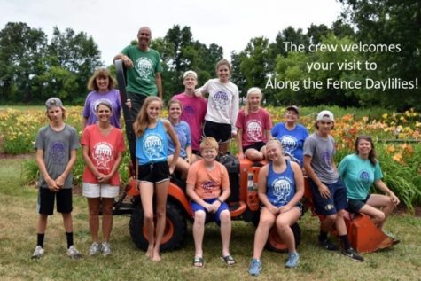 Saundra Dunn and workers at the daylily farm