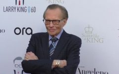 Larry King at Larry King's 60th Anniversary in Broadcasting on May 01, 2017 in Los Angeles, California.
