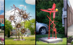(Left to right) Broken Dreams by Dave Tonegatto. Summerscape by Robert Georgic. Snakes and Ladders #2 by David Petrakovitz. Jack by Jeffery Boh Photo credits: Crystal Scott